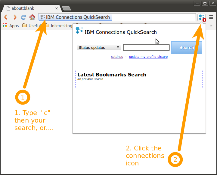 Figure 1: IBM Connections Plugin for Chrome
