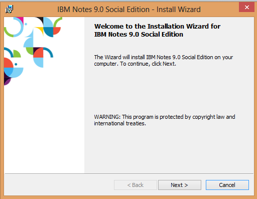 IBM Notes 9.0 - Install Wizard
