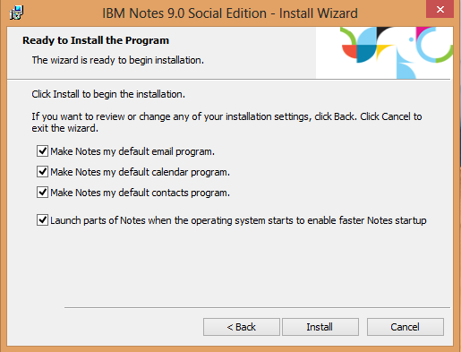 IBM Notes 9.0 - Setting Notes as the default application handler