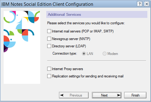 IBM Notes 9.0 - Additional Services