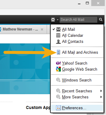IBM Notes 9.0 - Searching Mail and Archives Simultaneously