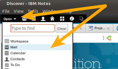 IBM Notes 9.0 - Bookmarks: The Open List revealed