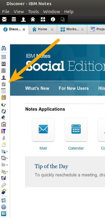 IBM Notes 9.0 - Bookmarks: The Bookmark Bar in the IBM Notes 9 client