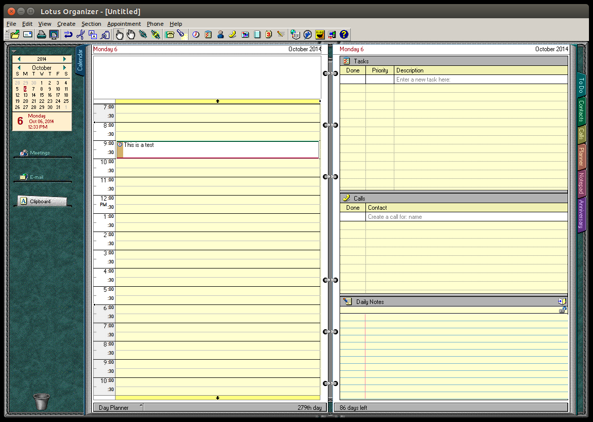 A quiet farewell lotus 1 2 3 organizer and smartsuite for Software planner