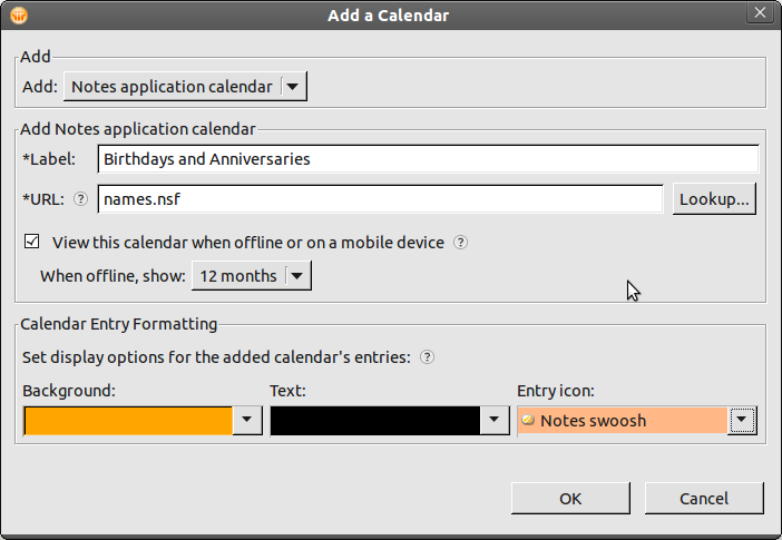 Add Birthdays and Anniversaries to your Lotus Notes Calendar