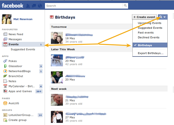 Add Facebook to Lotus Notes Calendar Step 1