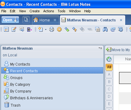 Lotus Notes Contacts, new features available