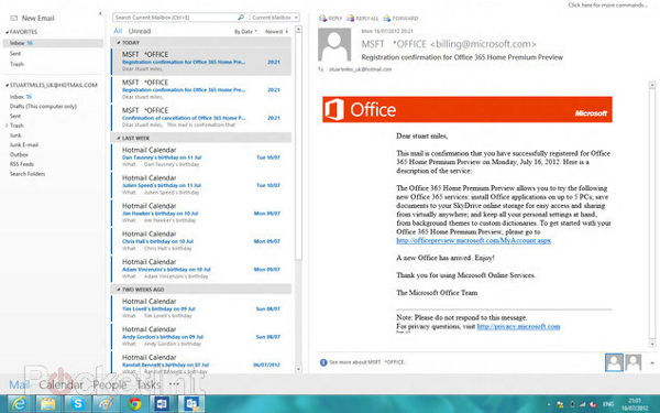 Upcoming version of Microsoft Office Outlook 2013