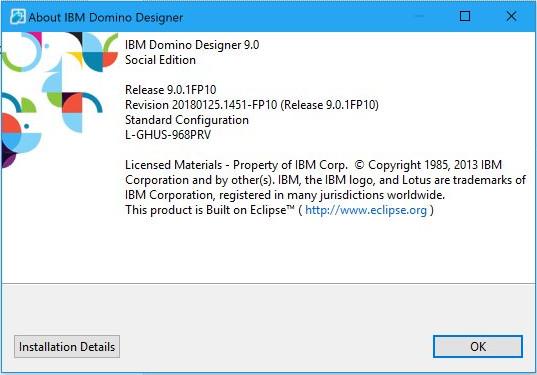 IBM Notes 9.0 FP10 Splash Screen