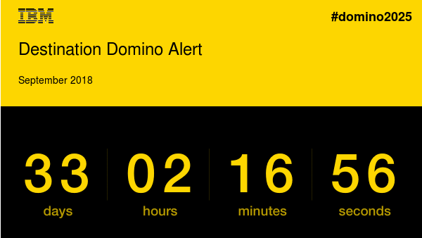 Figure 1: Destination Domino Alert